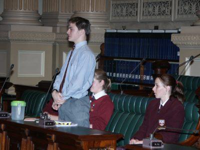 2005 Debating in Parliament House