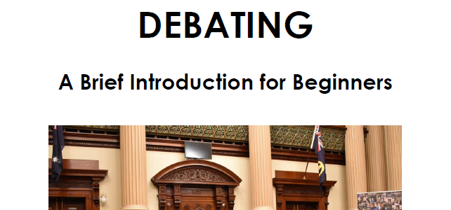 Debating: A Brief Introduction for Beginners